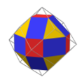 Nonuniform rhombicuboctahedron as rectified rhombic dodecahedron.png