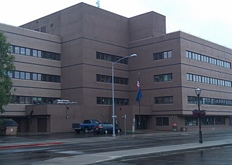Fairbanks North Star Borough School District - School district headquarters building in downtown Fairbanks.