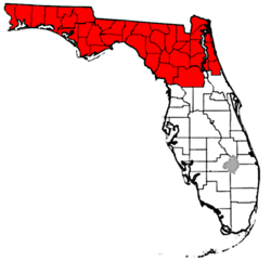 Northern Florida Map.North Florida Wikipedia