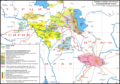 Northeastern Neo-Aramaic languages map 20th century-Russian.png