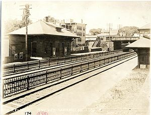 Savin Hill (MBTA station) - Savin Hill Avenue station in 1923, four years before the conversion to rapid transit