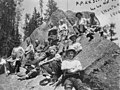 Northern Pacific Railroad survey team, Lolo Hot Springs, Montana, circa 1909 (TRANSPORT 1212).jpg