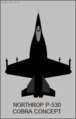 Northrop P-530 Cobra top-view silhouette.png