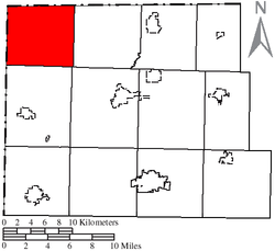 Location of Northwest Township in Williams County
