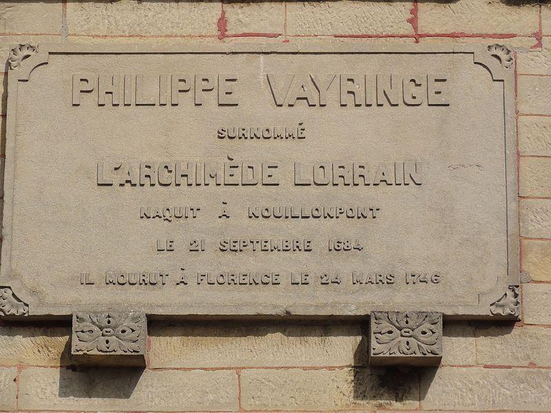 Nouillonpont (Meuse) plaque Philippe Vayringe