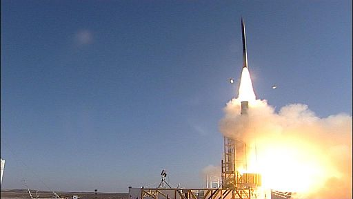 Nov. 20, 2012 - David's Sling Weapons System Stunner Missile intercepts target during inaugural flight test (3)