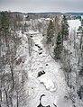 Nukarinkoski from air, Nurmijärvi, Finland, 2021 February.jpg