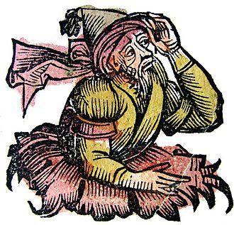 Merlin - Merlin in the Nuremberg Chronicle (1493)