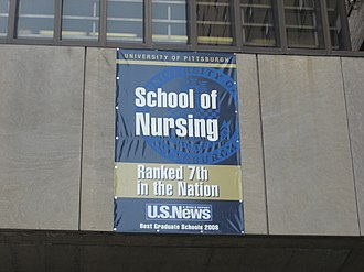 University of Pittsburgh School of Nursing - The Victoria Building bridge over Lothrop Street