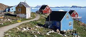 Nuussuaq - Wooden houses in Nuussuaq