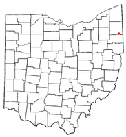 Location of Churchill, Ohio