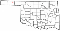 Location of Hooker, Oklahoma