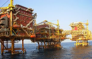 Uran - ONGC Oil and Gas Processing Platform in the Bombay High oilfield