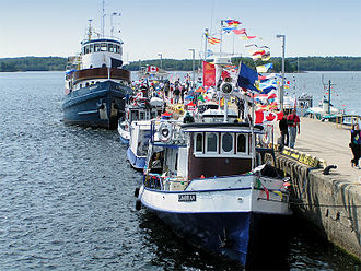 Parry Sound, Ontario - Departure point at the harbour, for the sightseeing tours of the 30,000 Islands