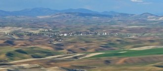 Oakesdale, Washington - Oakesdale as seen from Steptoe Butte.