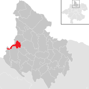Location of the municipality of Oberkappel in the Rohrbach district (clickable map)