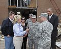 Oklahoma Gov. Mary Fallin, second from left, leads U.S. Army Gen. Frank J. Grass, second from right, the chief of the National Guard Bureau, on a tour through the Plaza Towers Elementary School in Moore, Okla 130528-Z-VF620-4686.jpg