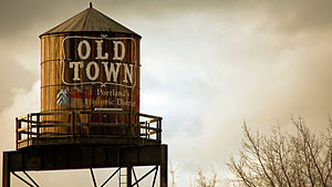 Water tower, Old Town historic district of Por...