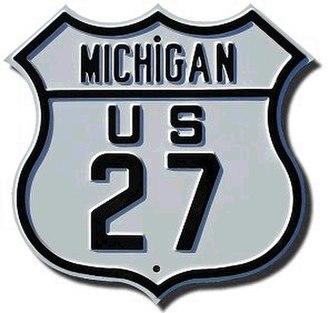 U.S. Route 27 in Michigan - The US 27 marker originally used in Michigan