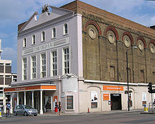 The exterior of the Old Vic