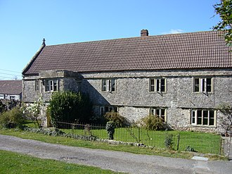 Whatley, Mendip - Image: Old house near the church (Whatley, Somerset, 2007)