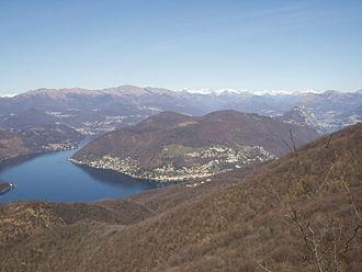 Saltrio - Lugano Lake seen from the Orsa Mountain