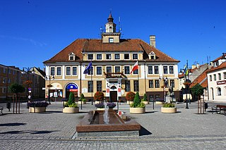Olsztynek Place in Warmian-Masurian, Poland