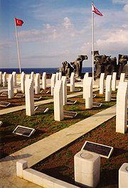 Operación Atila. Monumento a los caídos Operación Jul Ago 1974. Temblos