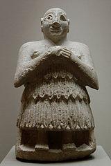 Statuette of seated orant