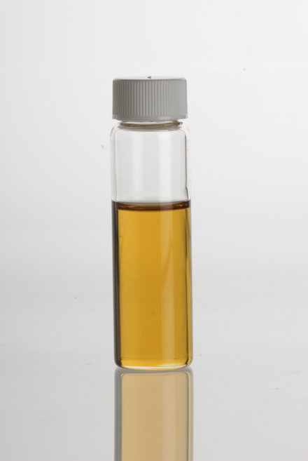 Oregano essential oil in a clear glass vial OreganoEssentialOil.png