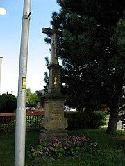 Wayside crosses in crossing B. Němcové and Branky