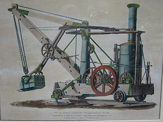 Steam shovel - Otis excavator. 1841