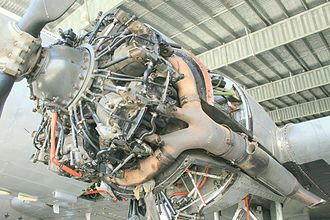 Pratt & Whitney R-1830 Twin Wasp - R-1830 mounted on the left wing of an ex-military Douglas C-47