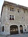 Pérouges - maison (cadastre 1440) - place des Tilleuls - rue de la Halle-au-For (2-2014) 2014-06-25 13.59 (2).jpg