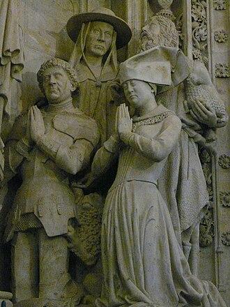 Maria of Loon-Heinsberg - Sculpture of Maria von Loon-Heinsberg at the mausoleum of Engelbert I of Nassau, Grote Kerk of Breda.