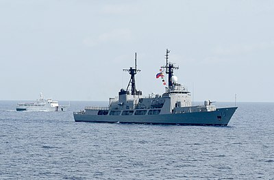 BRP Gregorio del Pilar (PF-15), a Hamilton-class cutter of the Philippine Navy. - Philippines