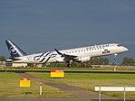 PH-EZX KLM Cityhopper Embraer ERJ-190STD (ERJ-190-100) landing at Schiphol (EHAM-AMS) runway 18R pic4.JPG