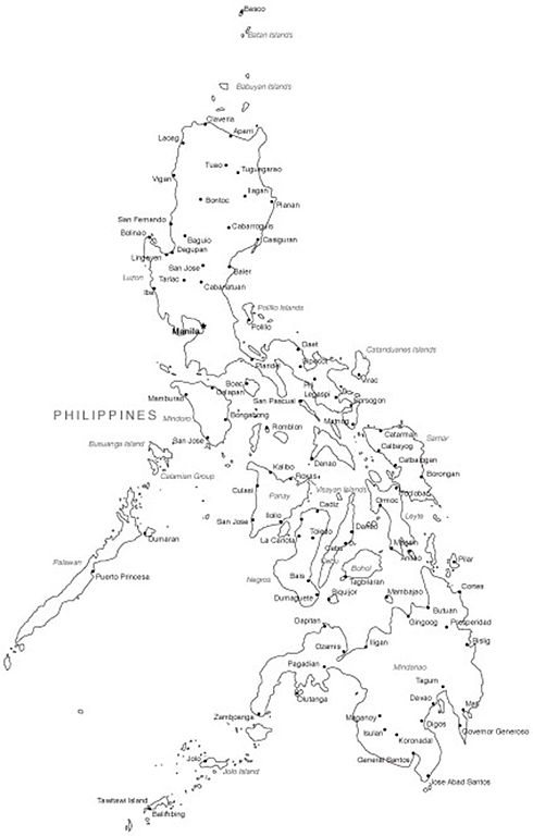 philippine map clipart black and white - photo #5