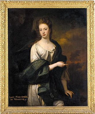 Wharton's second wife, Lucy Loftus PORTRAIT OF THE HON. LUCY LOFTUS, MARCHIONESS OF WHARTON (1670-1717).jpg