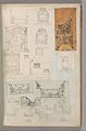 Page from a Scrapbook containing Drawings and Several Prints of Architecture, Interiors, Furniture and Other Objects MET DP372113.jpg