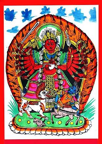 Chandi - Image: Painting of goddess chandi