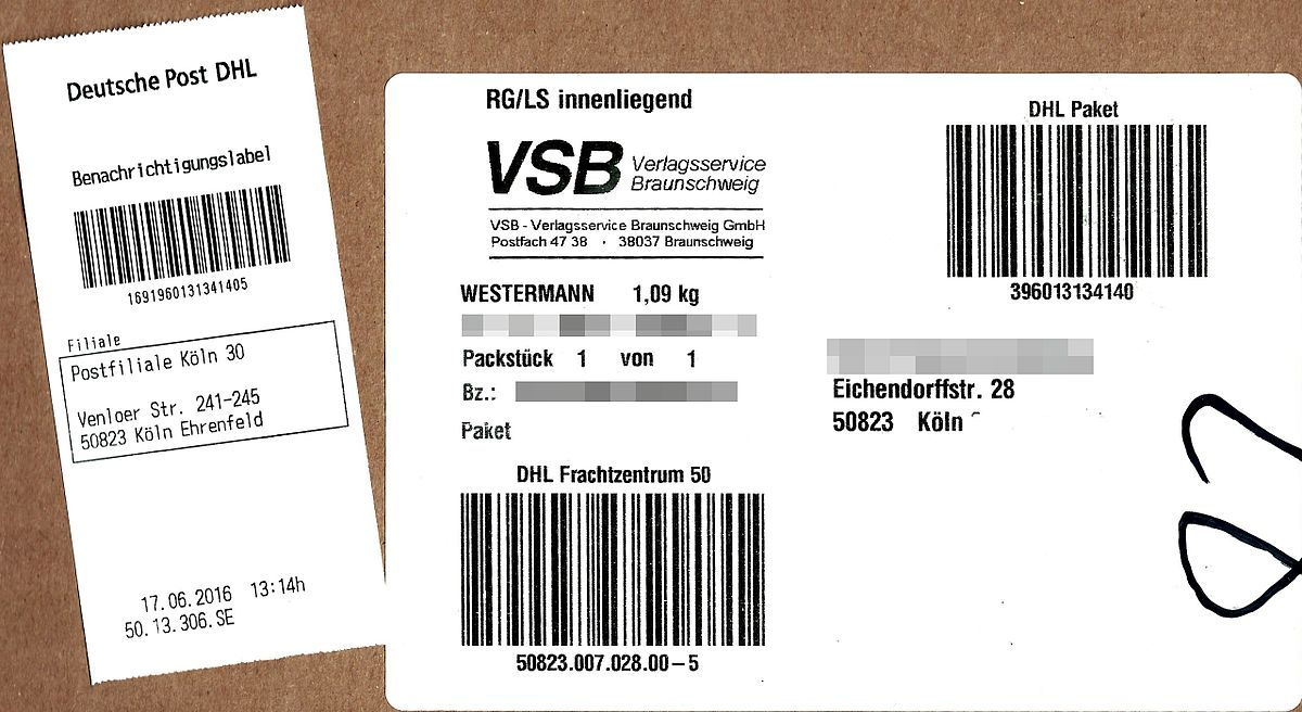 Nachnahme Post Paket