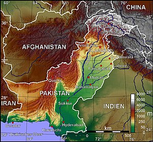 Geological Survey of Pakistan - A Topographic map of Pakistan.