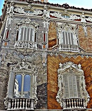Palace of the Marqués de Dos Aguas - Detail of Rococo windows