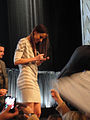 PaleyFest 2011 - The Walking Dead panel - Sarah Wayne Callies signs for fans.jpg