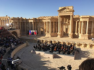 Palmyra offensive (March 2016) - The concert at the Roman amphitheatre after the reconquest of Palmyra.