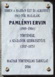 Pamlényi Ervin emléktáblája, Budapest, XI., Karinthy Frigyes út 20..png