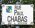 Panneau de la rue Paul Chabas (La Boisse).jpg