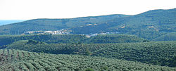 Panoramic view of Fuencaliente town