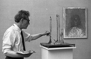 Alberto Giacometti - Alberto Giacometti at the 31° Venice Biennale in 1962, photographed by Paolo Monti (Fondo Paolo Monti, BEIC)